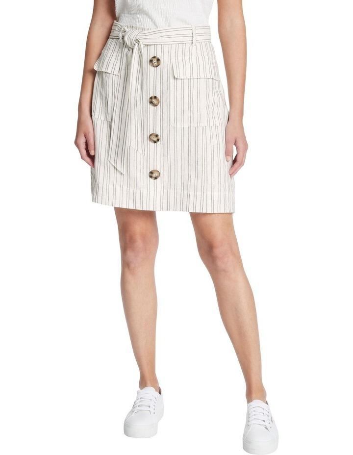 Percy Stripe Linen Skirt image 2