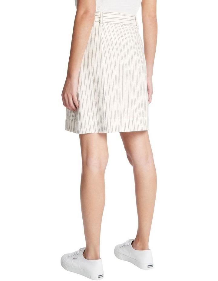 Percy Stripe Linen Skirt image 3
