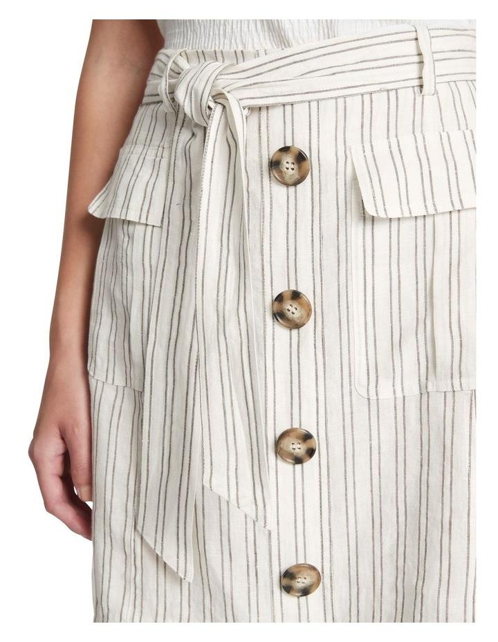 Percy Stripe Linen Skirt image 4