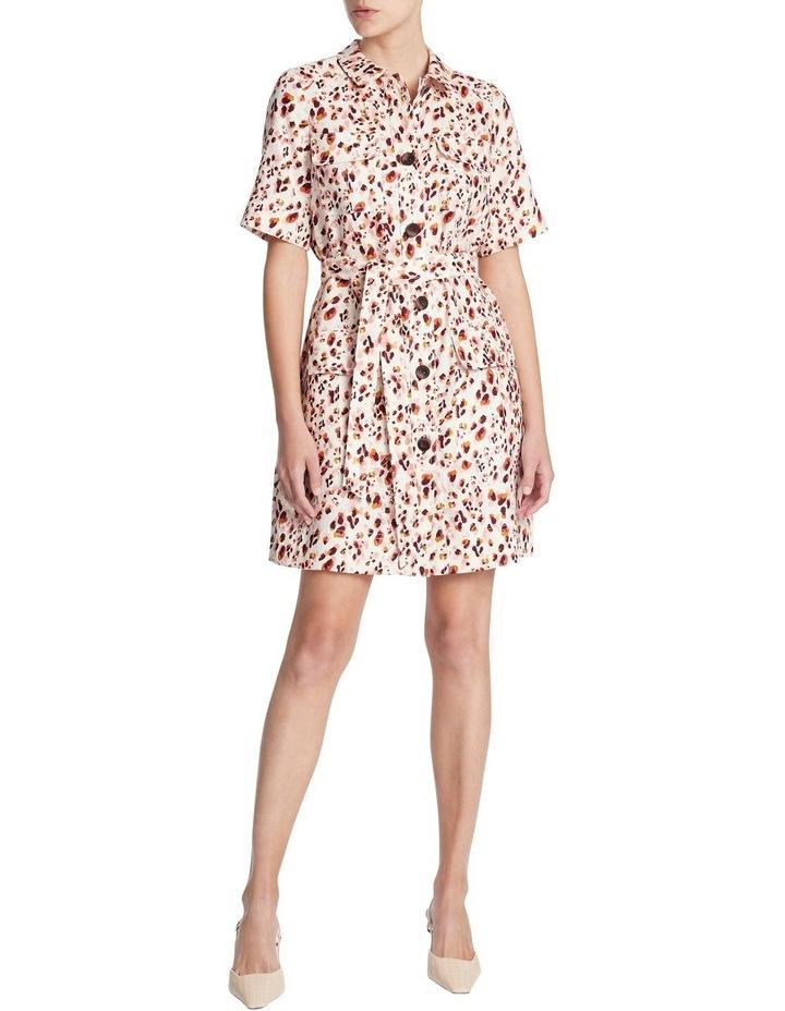 Animal Print Linen Shirt Dress image 1