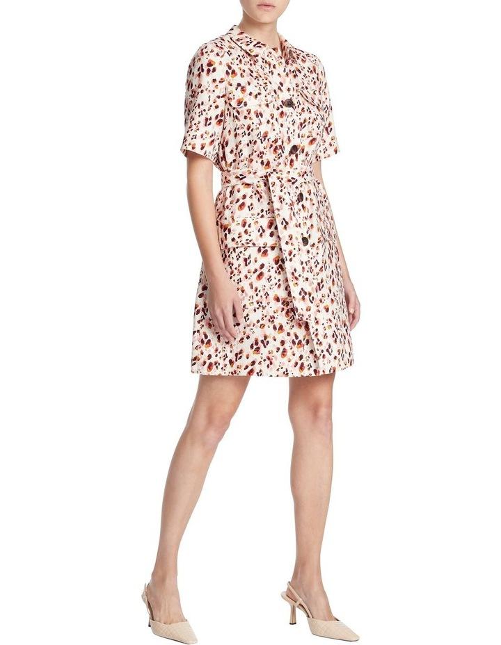 Animal Print Linen Shirt Dress image 2