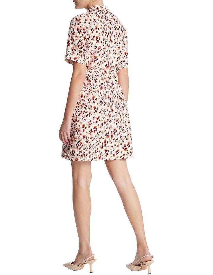 Animal Print Linen Shirt Dress image 3
