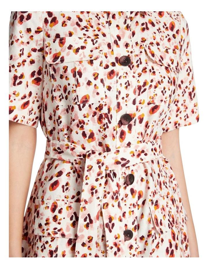 Animal Print Linen Shirt Dress image 4