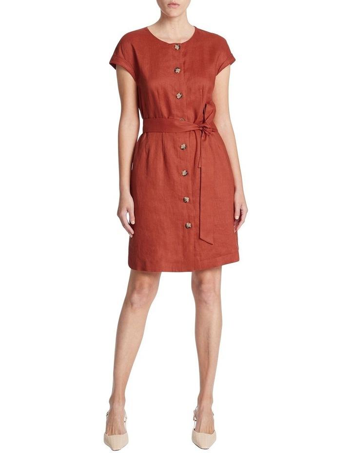 Button Front Linen Dress image 1