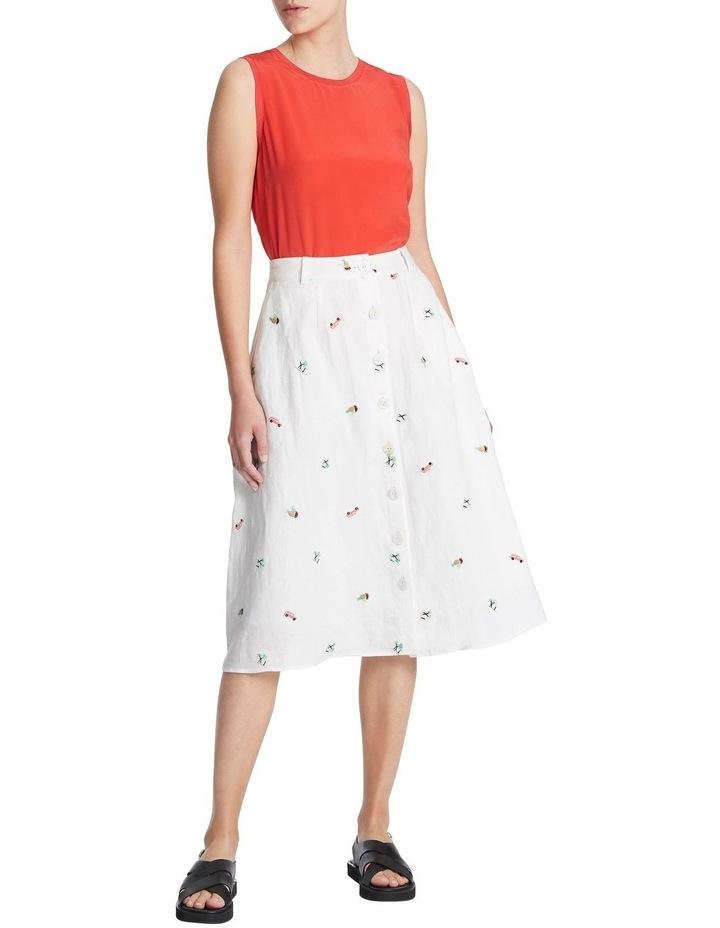 Pina Colada Embroidered Skirt image 1
