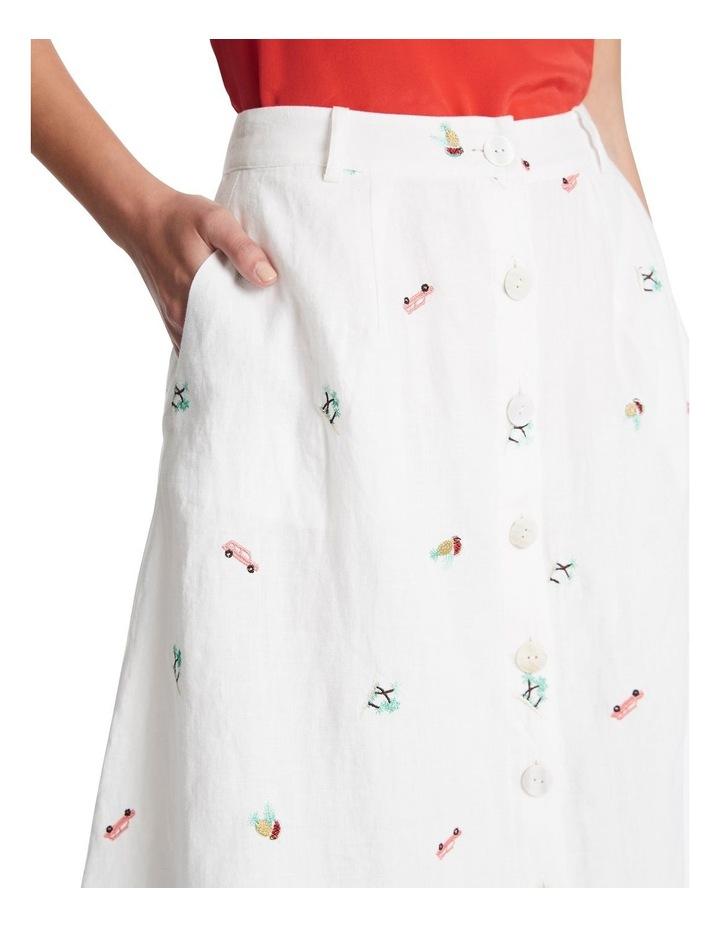 Pina Colada Embroidered Skirt image 4
