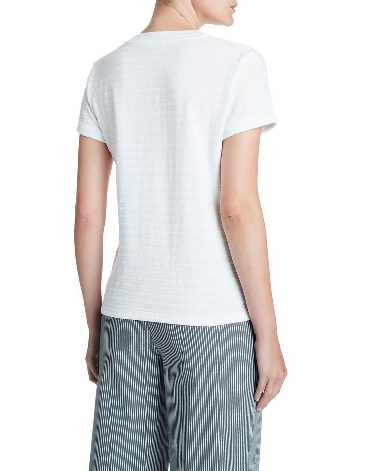 Textured Roll Sleeve Tee image 3