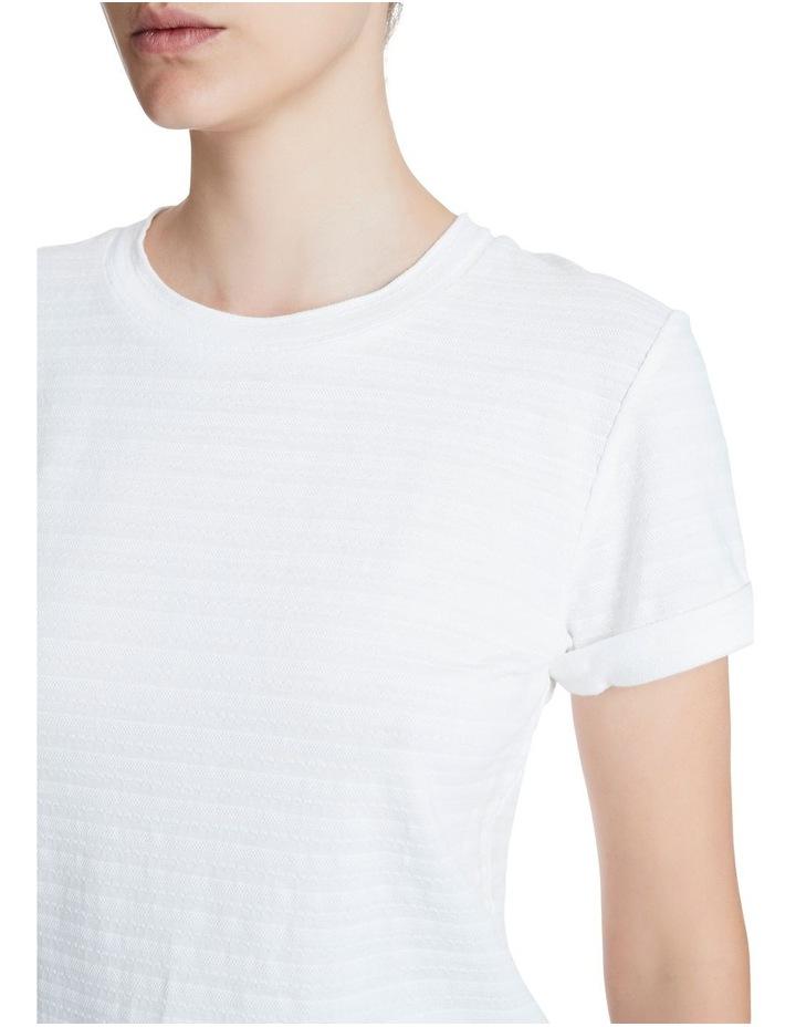 Textured Roll Sleeve Tee image 4