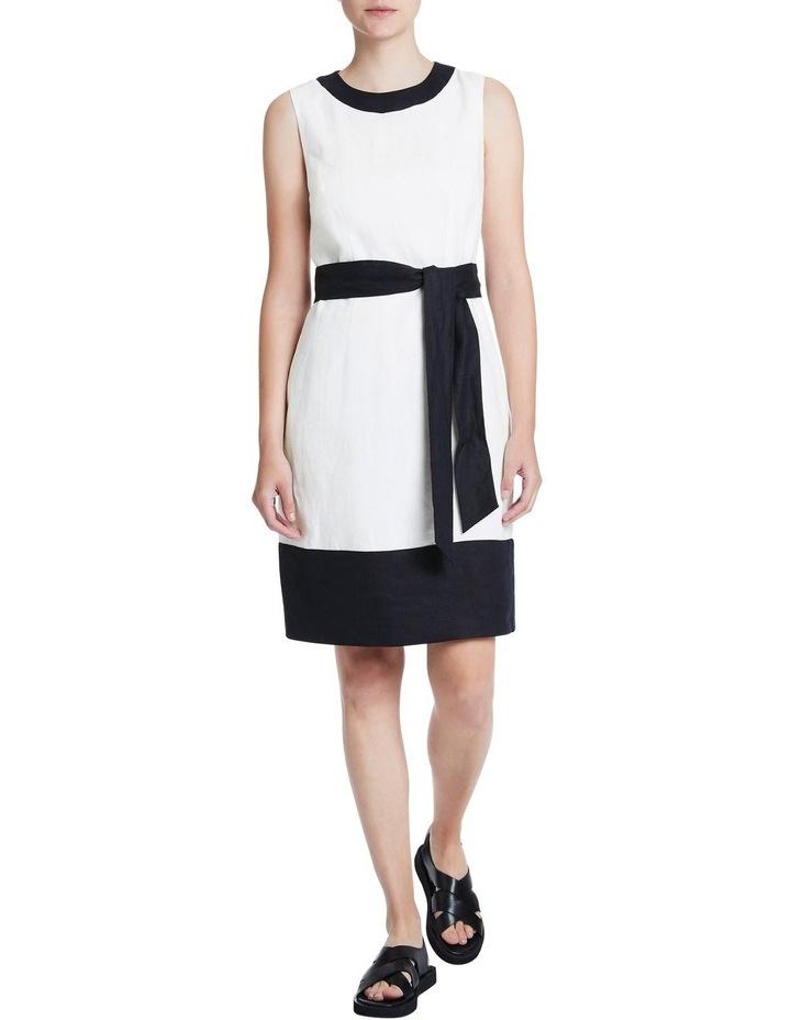 Colour Block Linen Dress image 1