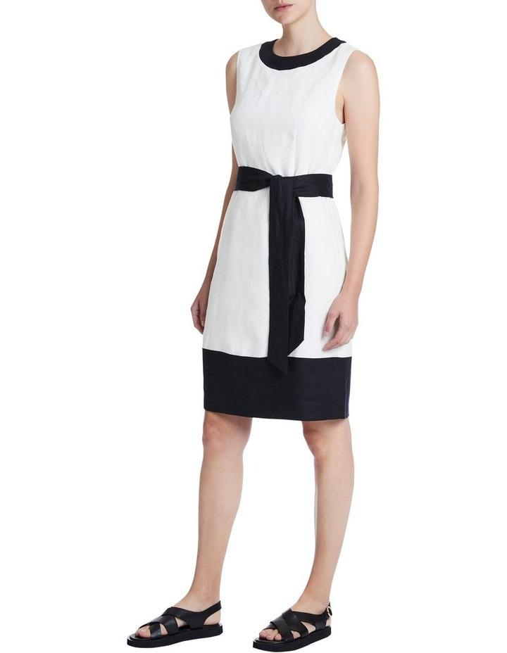 Colour Block Linen Dress image 2