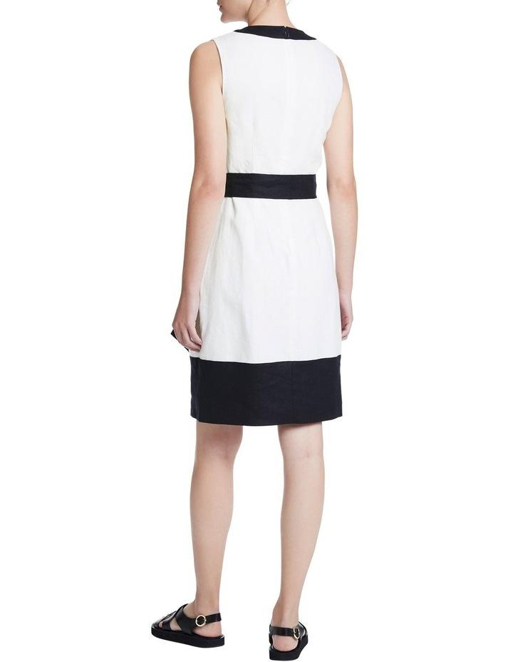 Colour Block Linen Dress image 3