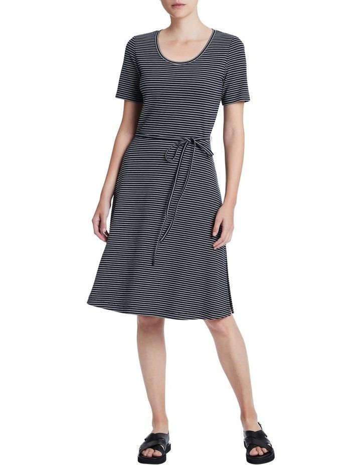 Ponte Stripe Dress image 1