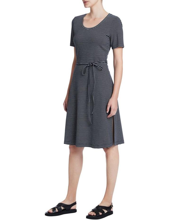 Ponte Stripe Dress image 2