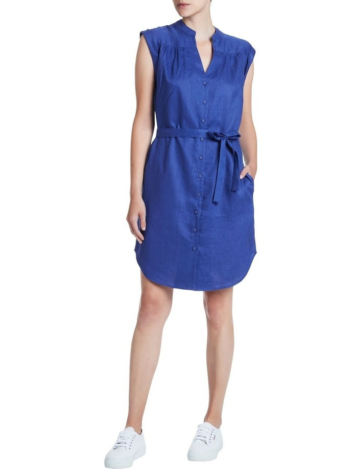 Sapphire Washed Linen Dress image 1