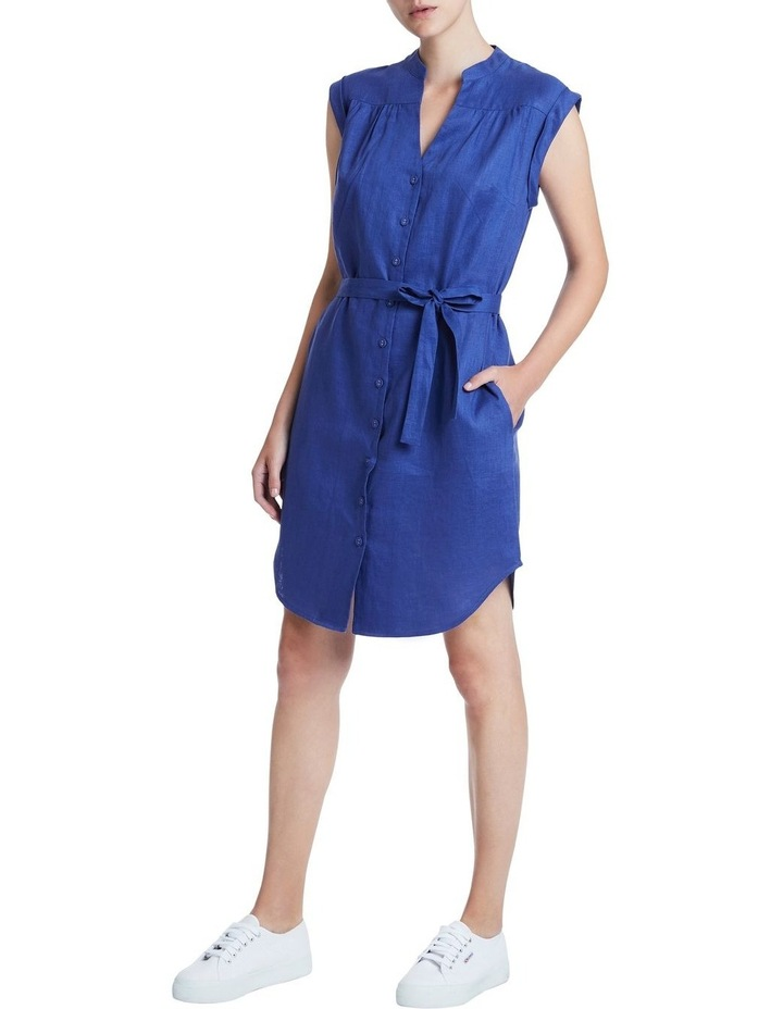 Sapphire Washed Linen Dress image 2