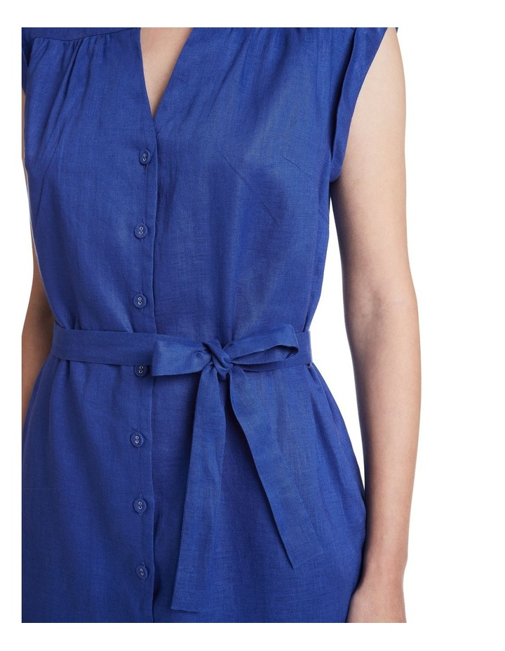 Sapphire Washed Linen Dress image 4