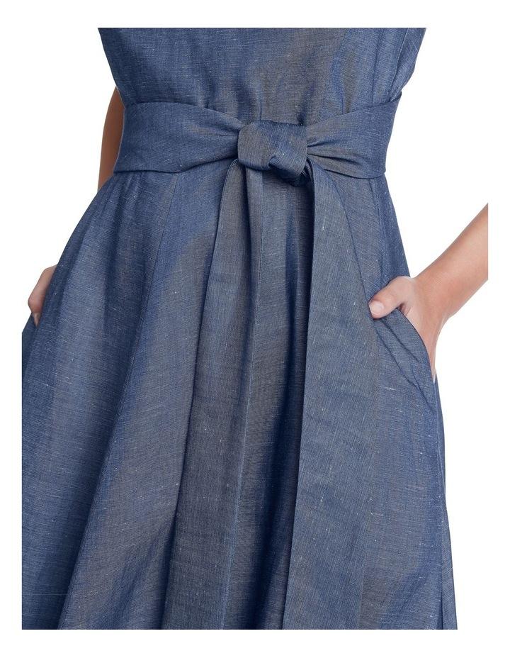 Chambray Midi Dress image 4