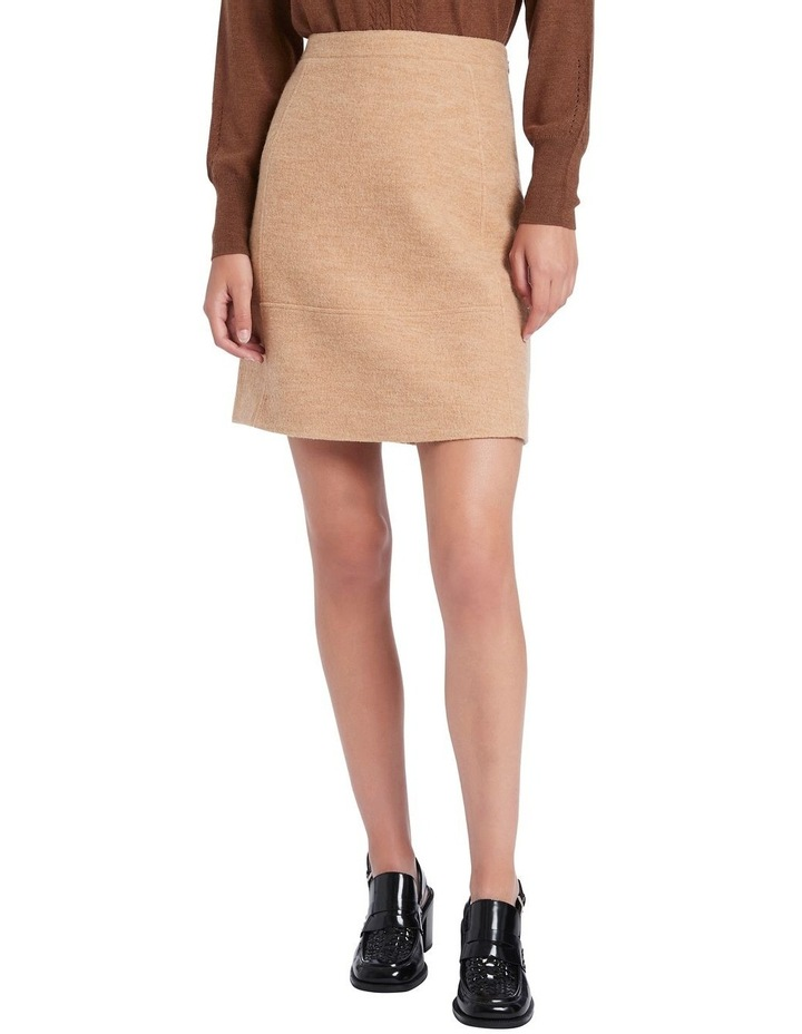 Felted Wool Mini Skirt image 1