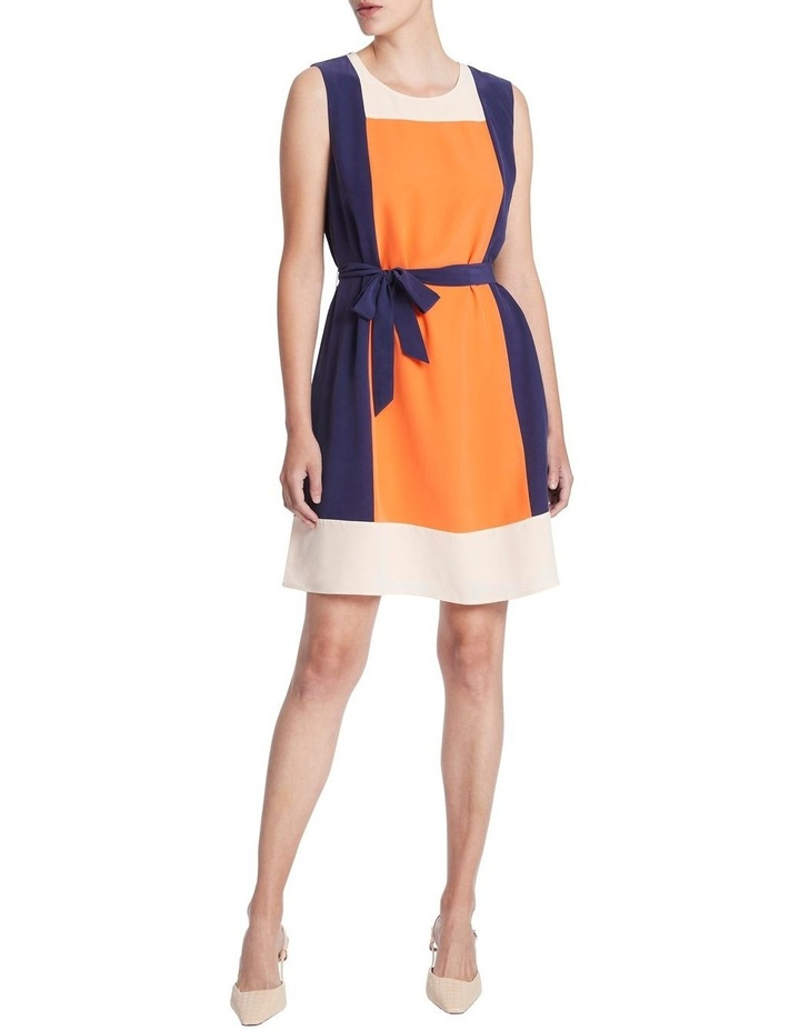 Colour Block Silk Dress image 1