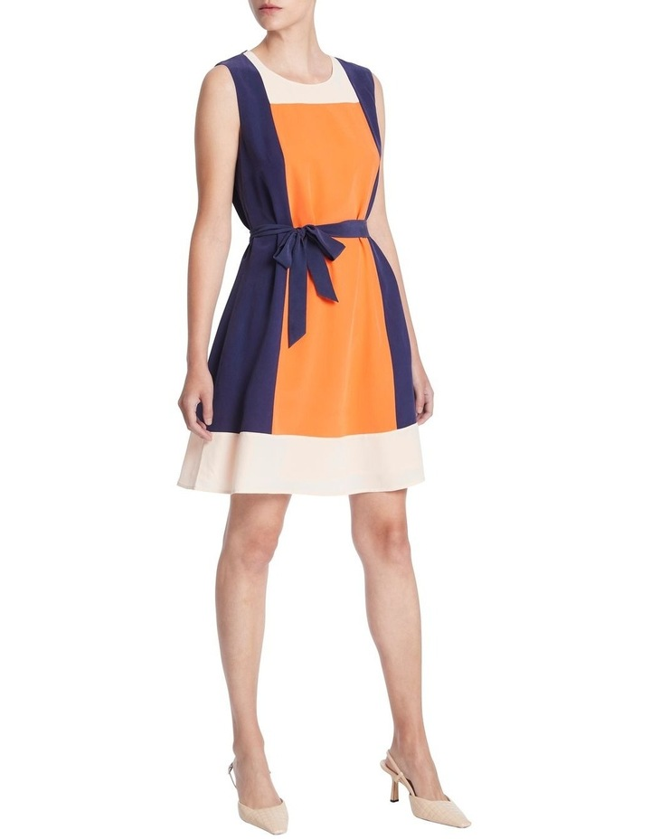 Colour Block Silk Dress image 2