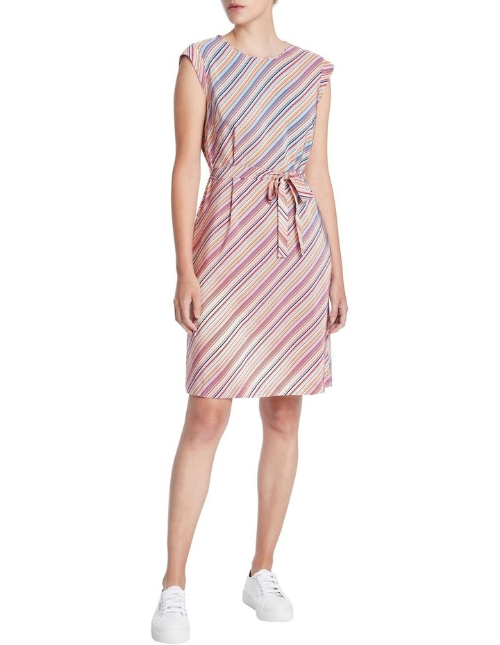 Retrostripe Silk Dress image 1