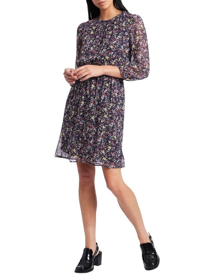 Hello Petal Printed Silk Dress image 1
