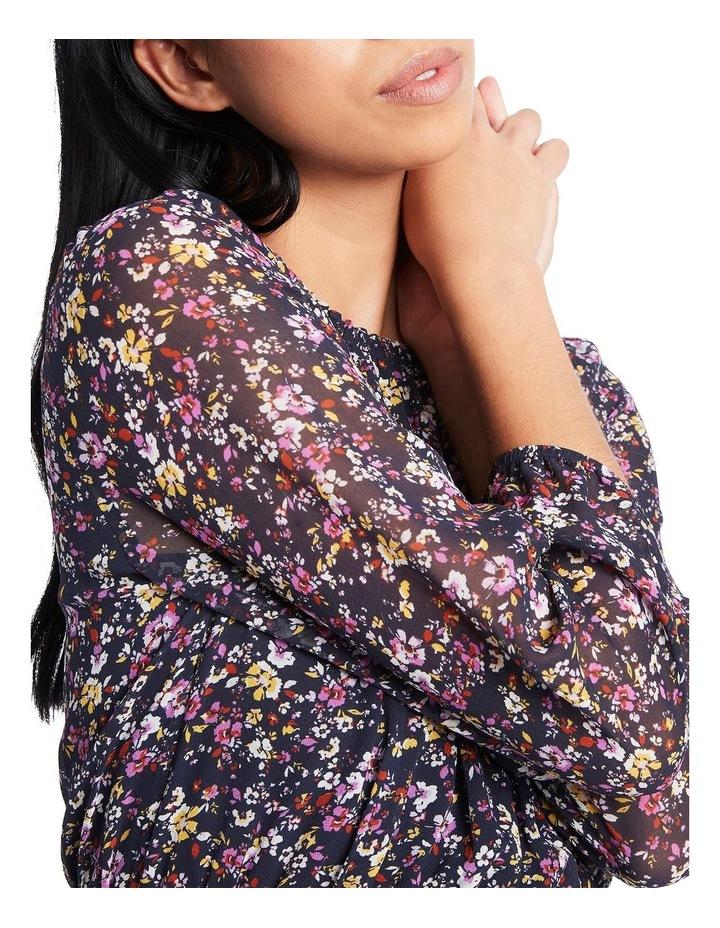 Hello Petal Printed Silk Dress image 4