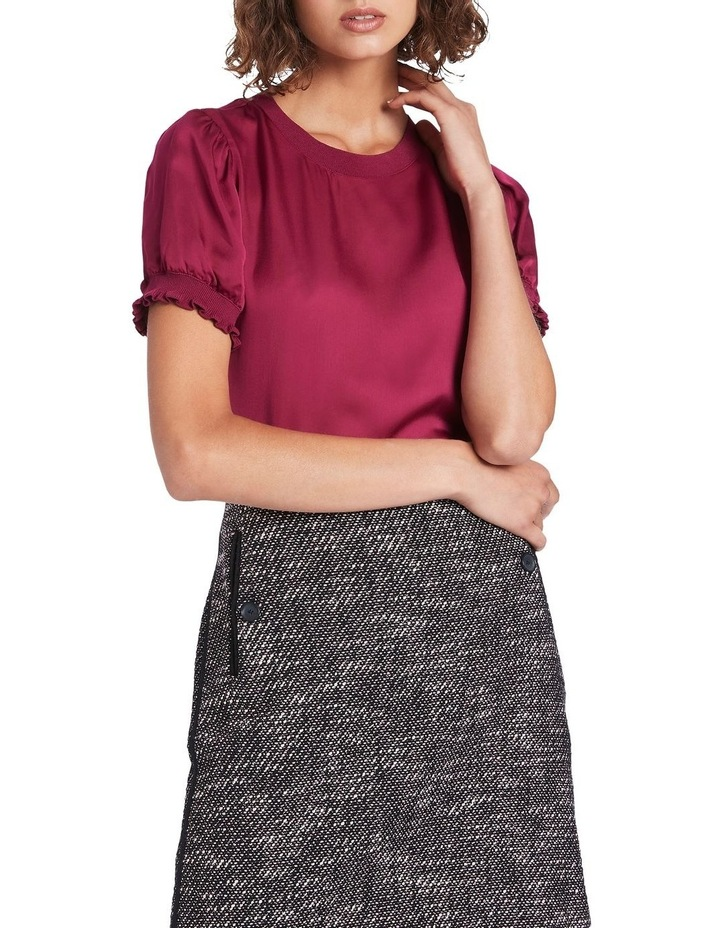 Viscose Top With Knit Trim image 2