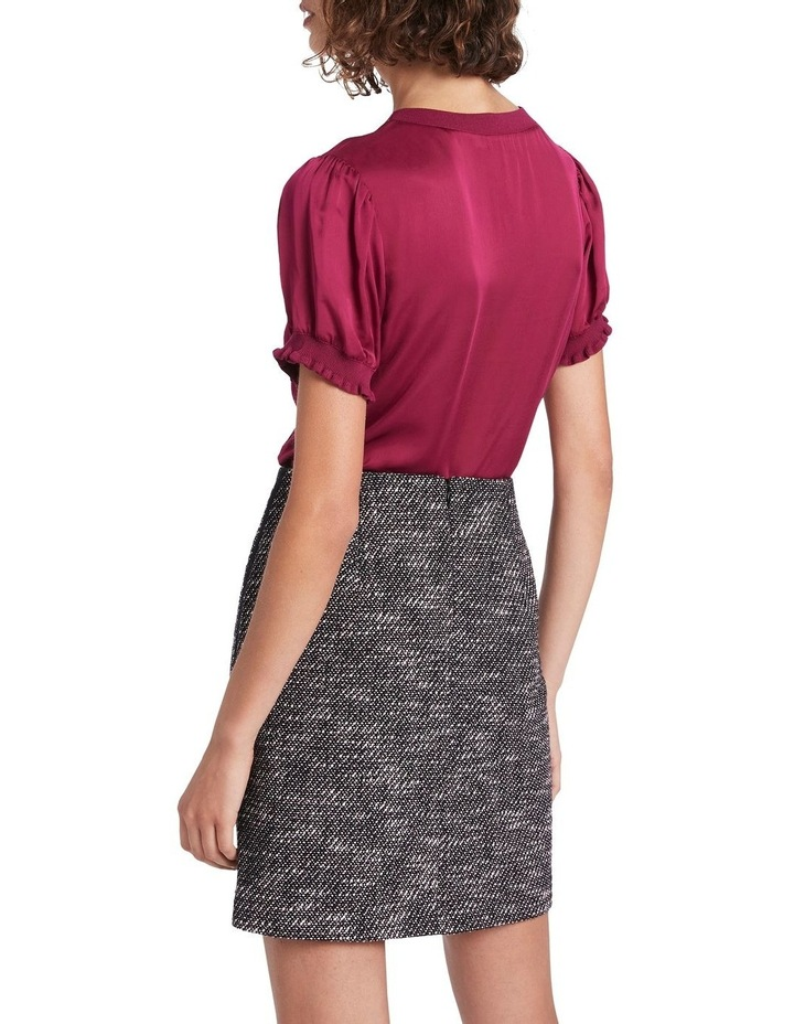Viscose Top With Knit Trim image 3