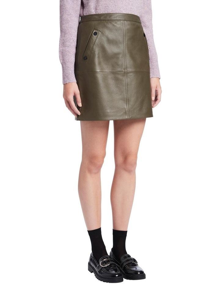 Houston Leather Mini Skirt image 2