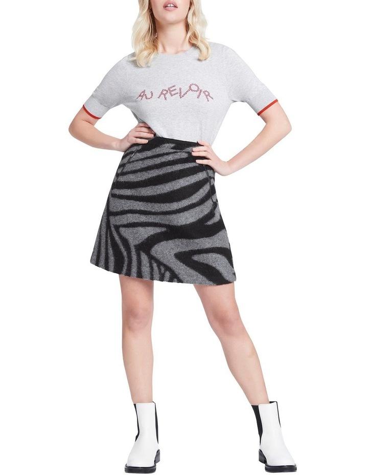 Zebra Felted Wool Mini Skirt image 1