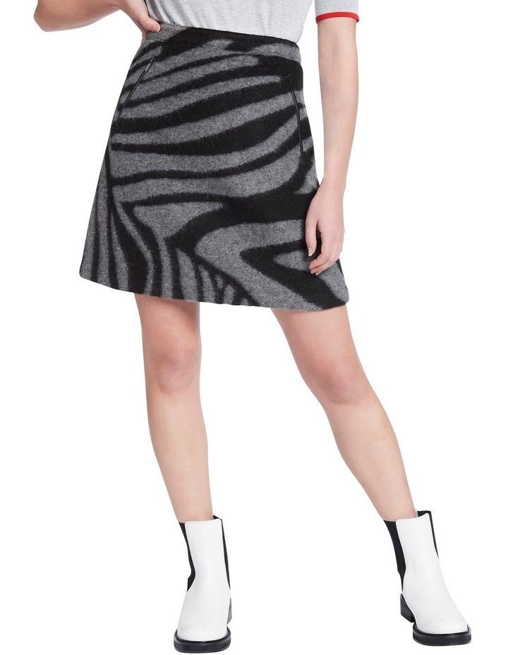 Zebra Felted Wool Mini Skirt image 2