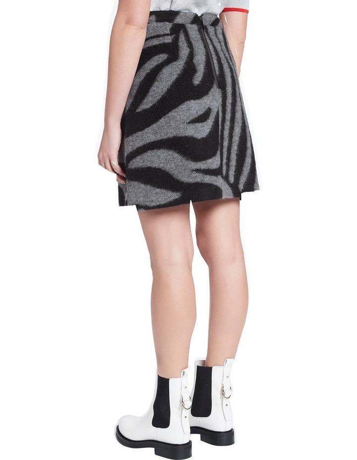 Zebra Felted Wool Mini Skirt image 3