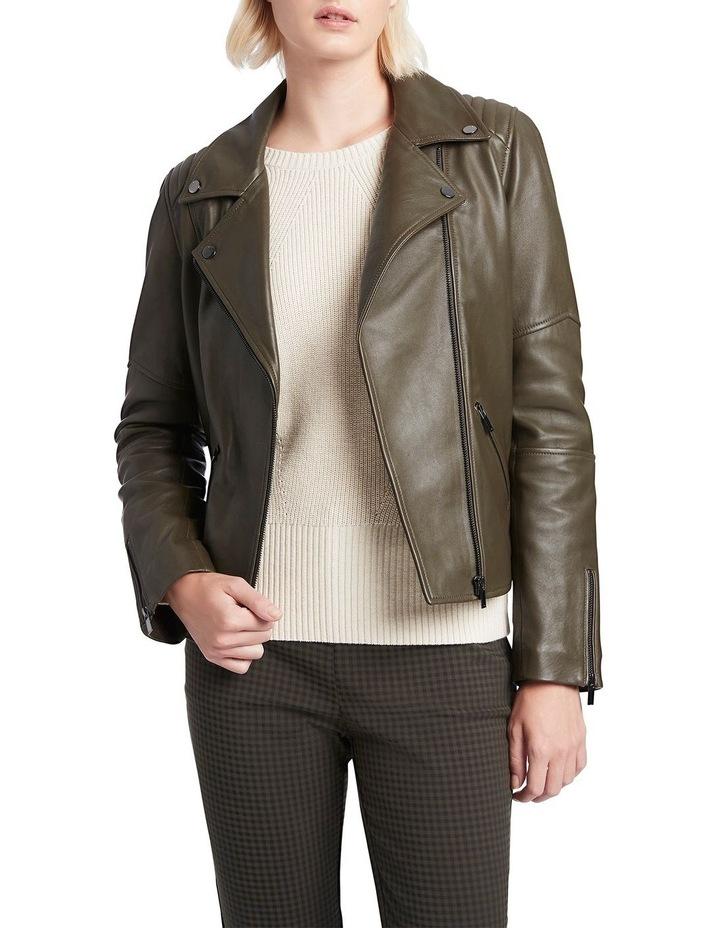 Houston Leather Biker Jacket image 2