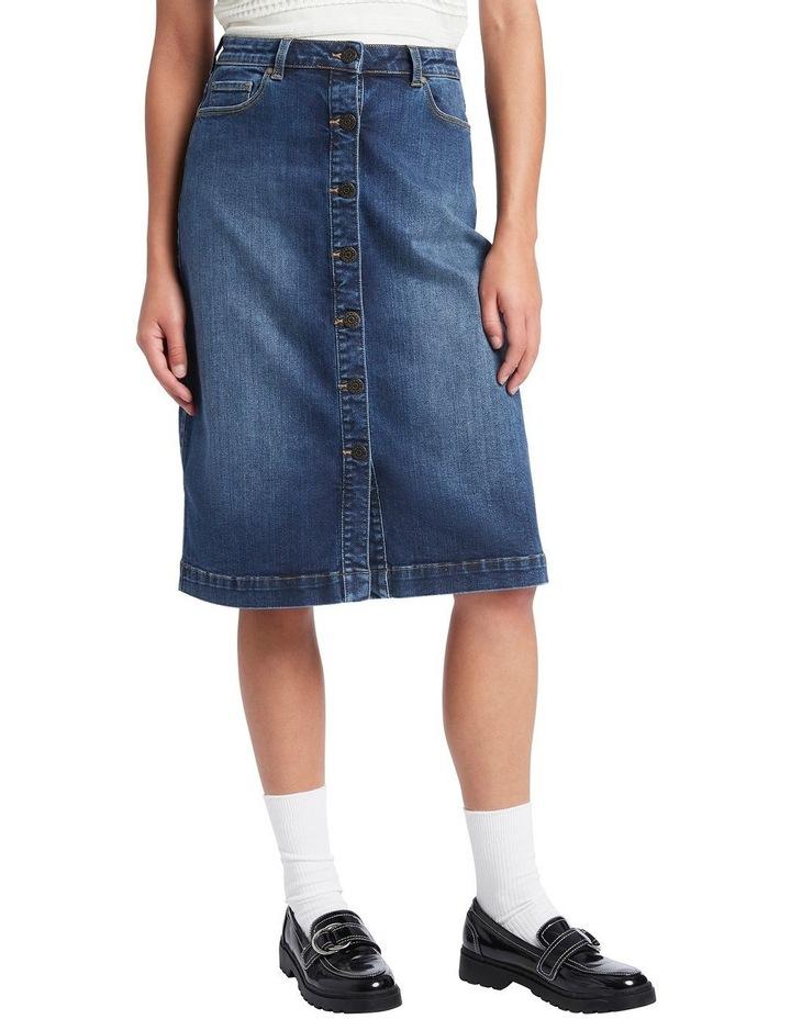 Auburn Denim Skirt image 2