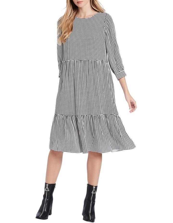 Dotty Printed Midi Dress image 1