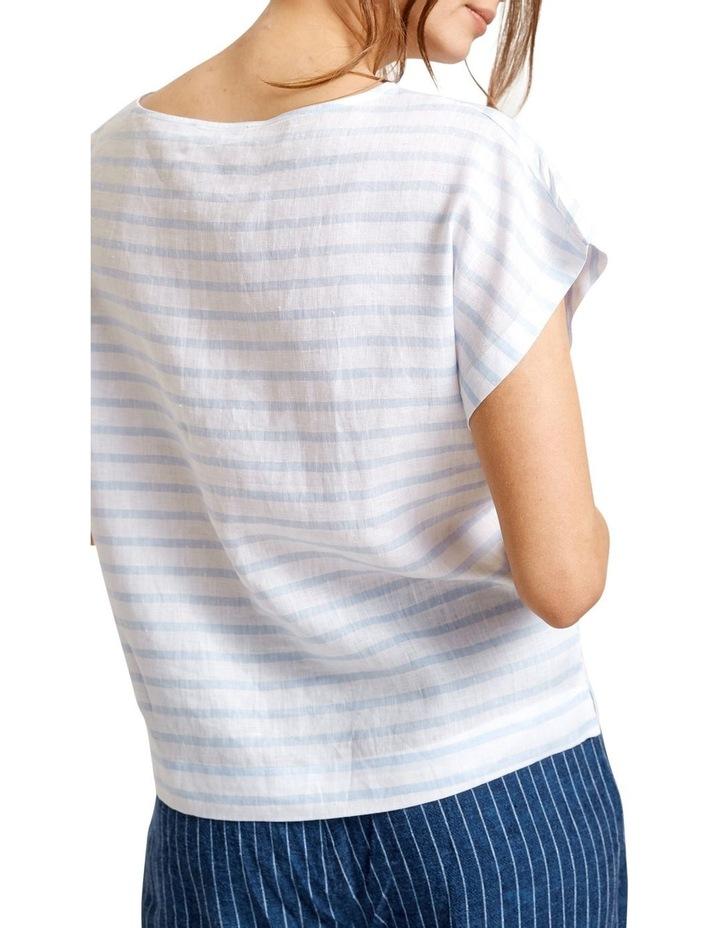 Roma Stripe Linen Tee image 2