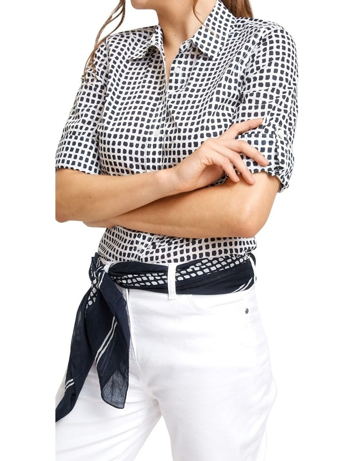 Lily Voile Geo Print Shirt image 1