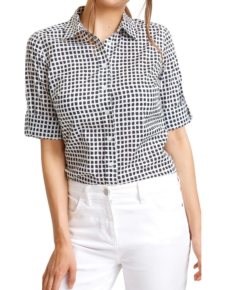 Lily Voile Geo Print Shirt image 2
