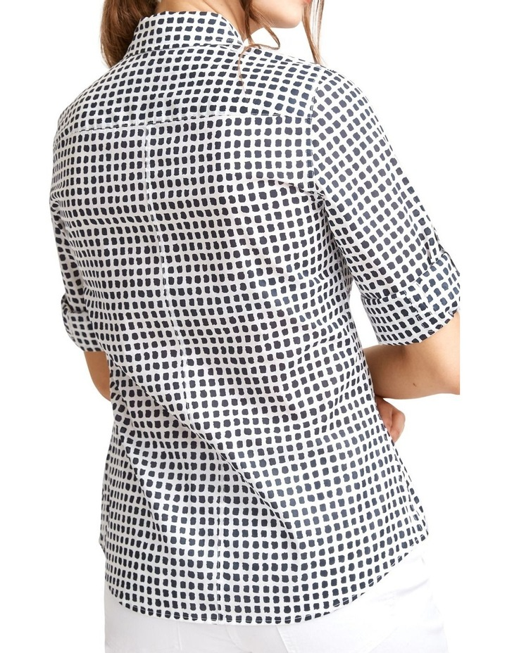 Lily Voile Geo Print Shirt image 3
