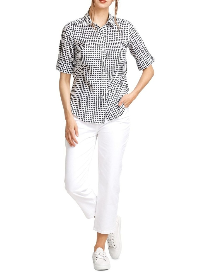 Lily Voile Geo Print Shirt image 5
