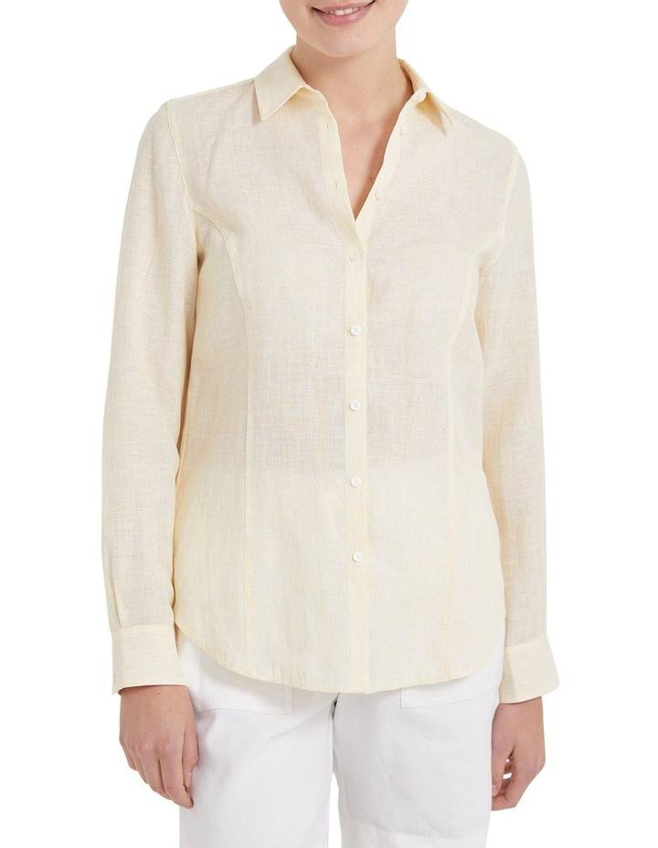 Daisy Stripe Linen Shirt image 2