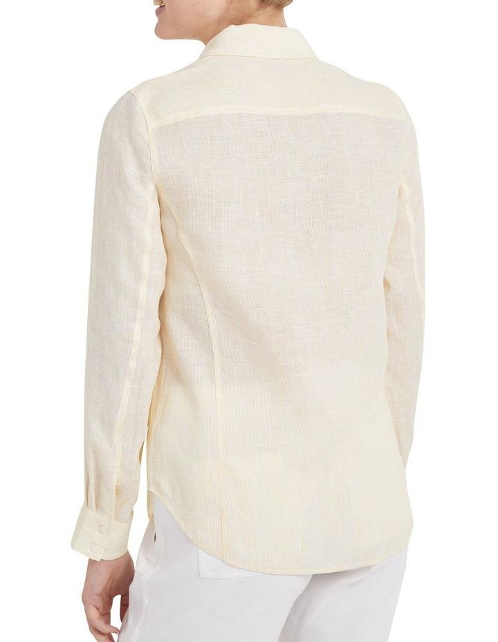 Daisy Stripe Linen Shirt image 3