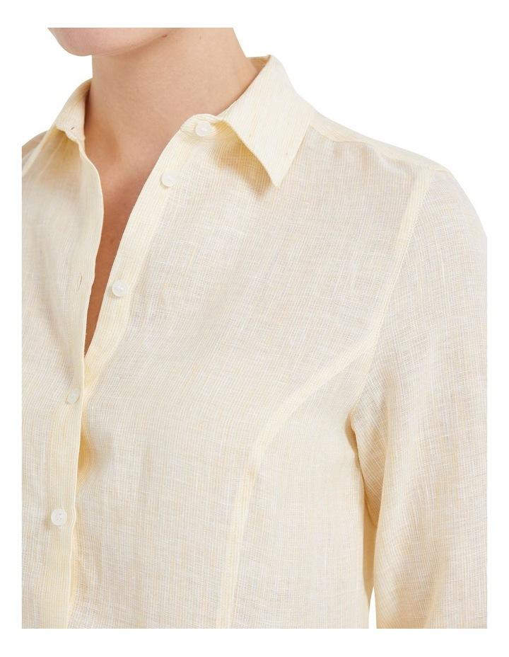 Daisy Stripe Linen Shirt image 5