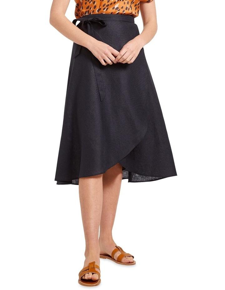 Sierra Linen Wrap Skirt image 1