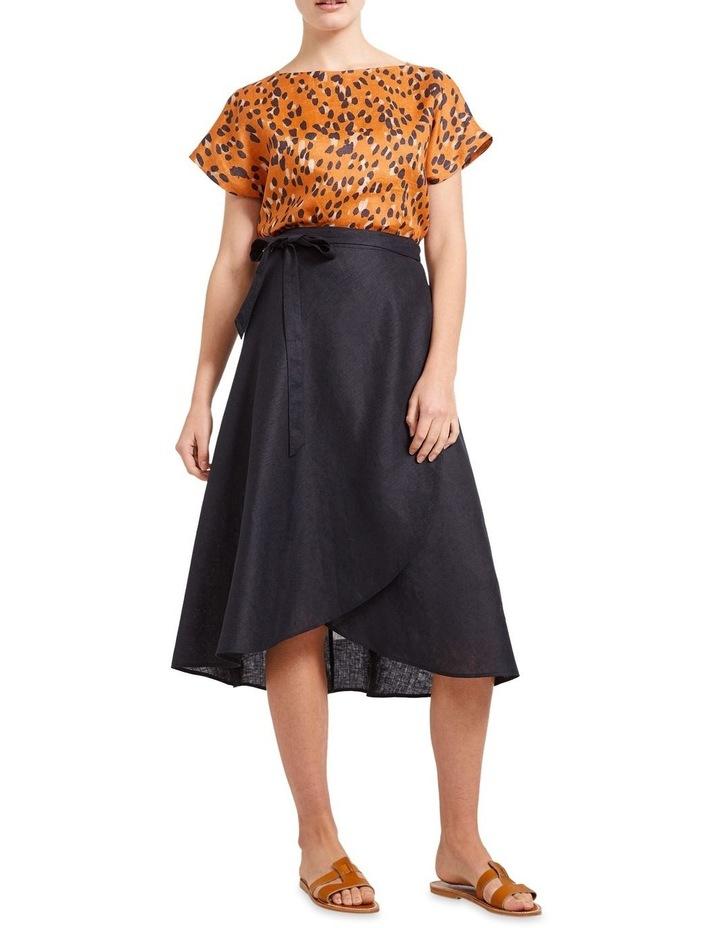 Sierra Linen Wrap Skirt image 3