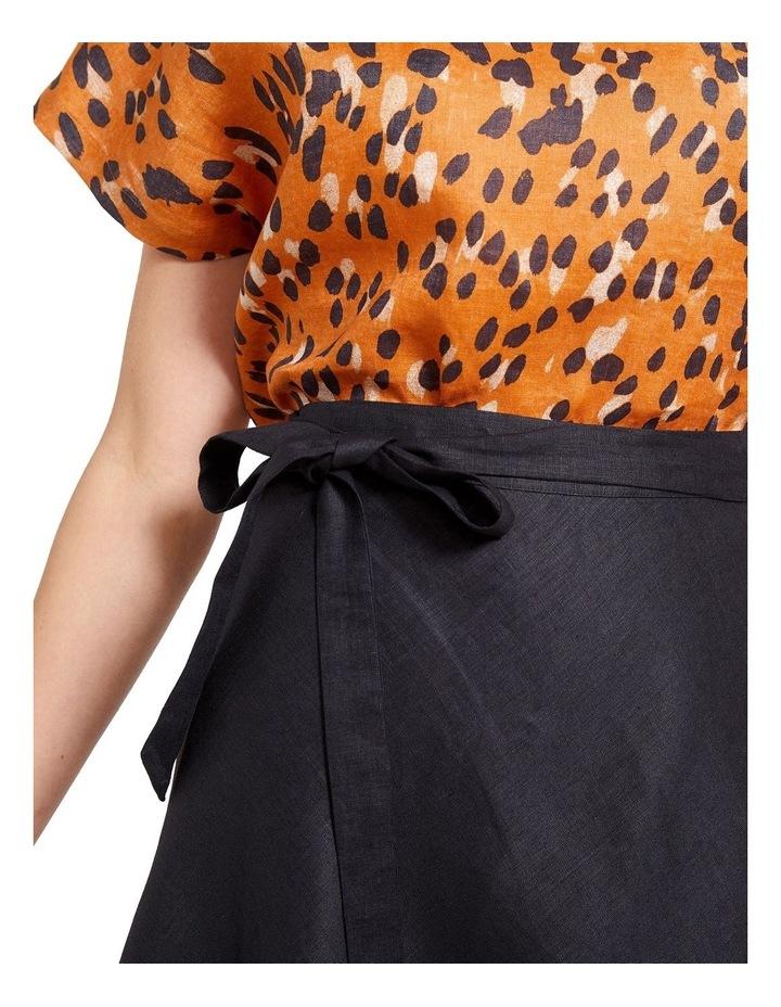 Sierra Linen Wrap Skirt image 5