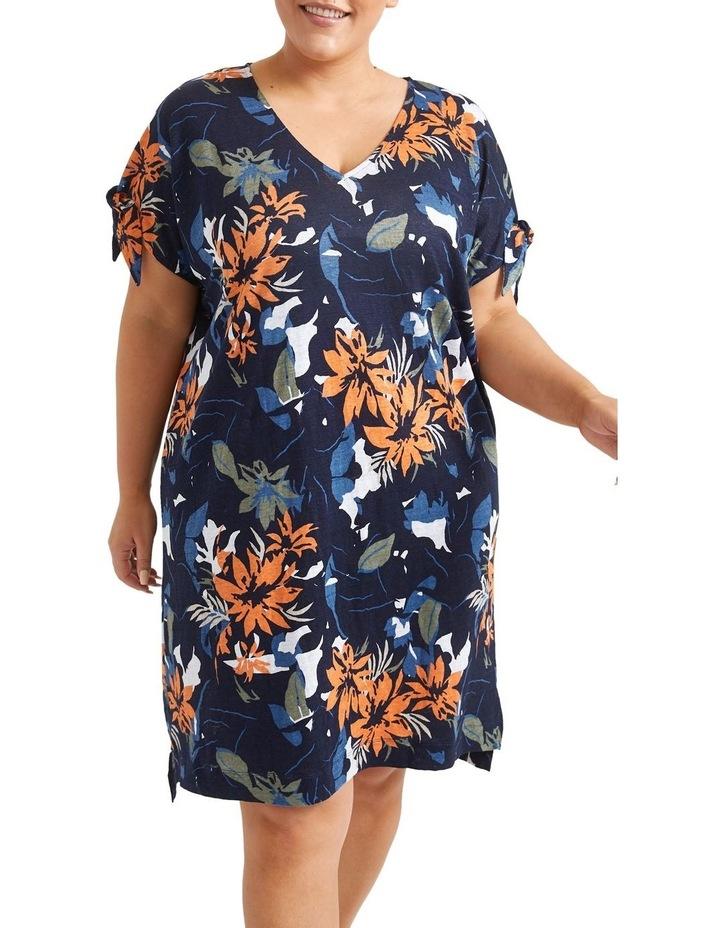 Skye Floral Linen Dress image 1