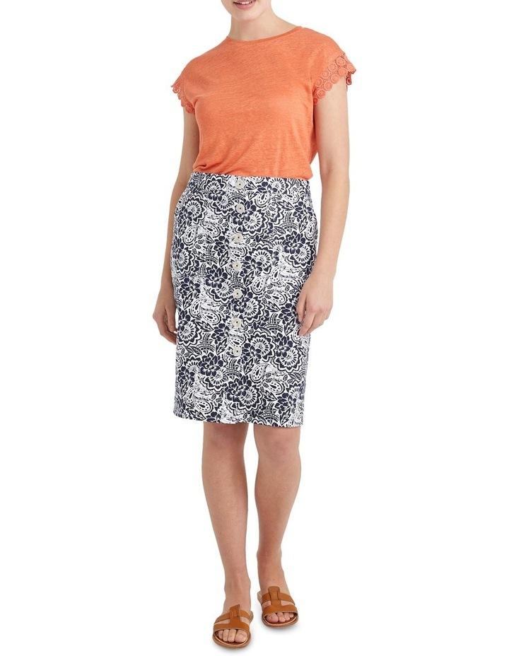 Lucia Cotton Print Skirt image 3