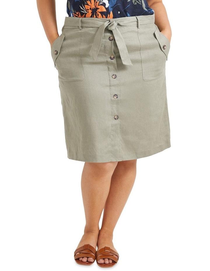 Josie Linen Tie Skirt image 1